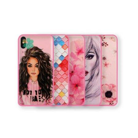 خرید قاب فانتزی صورتی دخترانه گوشی آیفون iPhone X / XS مدل باربی