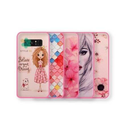 خرید قاب فانتزی صورتی دخترانه گوشی سامسونگ Galaxy Note 8 مدل باربی