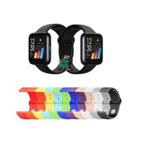 خرید بند سیلیکونی ساعت ریلمی واچ Realme Watch مدل دکمه ای