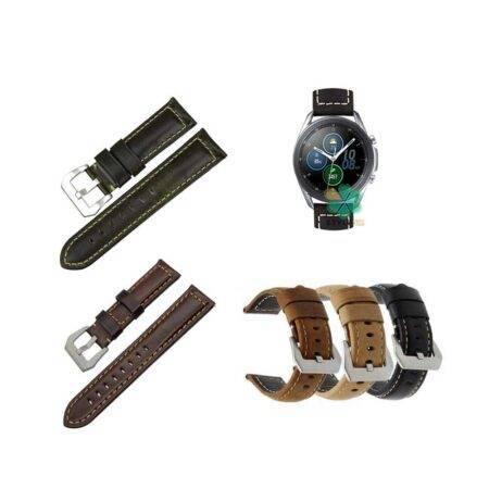 خرید بند چرمی ساعت سامسونگ Galaxy Watch 3 45mm مدل Horse Genuine