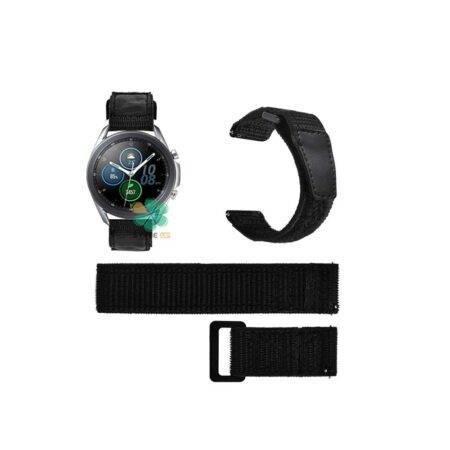 خرید بند ساعت سامسونگ Samsung Galaxy Watch 3 45mm مدل نایلون چسبی