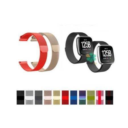 خرید بند استیل ساعت فیت بیت ورسا Fitbit Versa مدل New Milanese