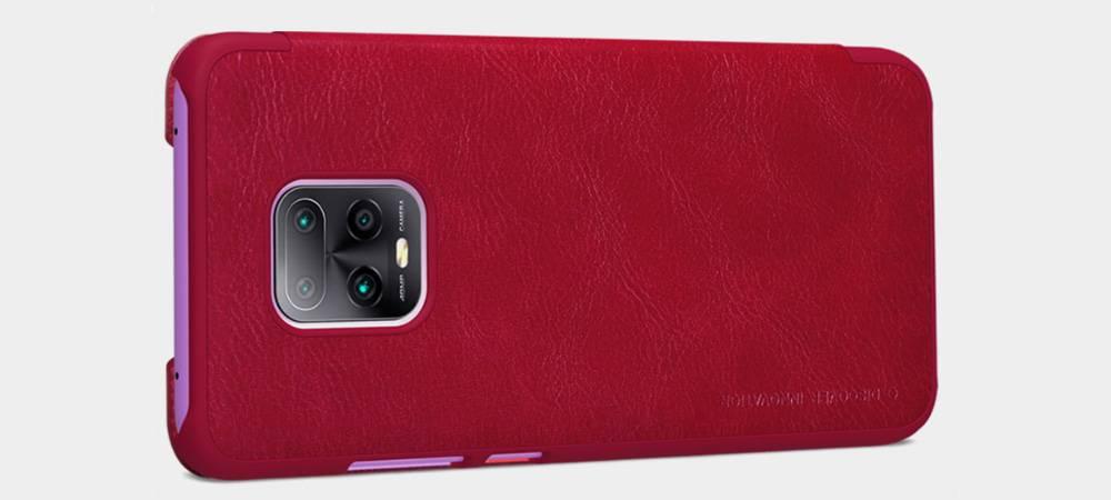 خرید کیف چرمی نیلکین گوشی شیائومی Xiaomi Redmi 10X Pro 5G مدل Qin