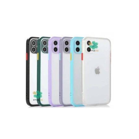 خرید قاب گوشی ایفون Apple iPhone 12 Mini مدل پشت مات محافظ لنزدار