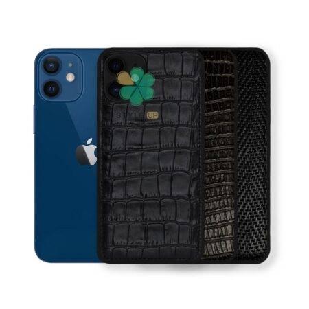 خرید قاب چرمی گوشی ایفون Apple iPhone 12 Mini طرح Crocodile Skin
