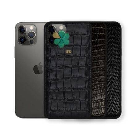 خرید قاب چرمی گوشی ایفون Apple iPhone 12 Pro طرح Crocodile Skin