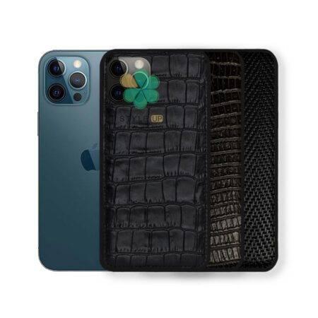 خرید قاب چرمی گوشی ایفون iPhone 12 Pro Max طرح Crocodile Skin
