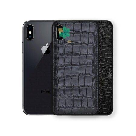 خرید قاب چرمی گوشی ایفون Apple iPhone X / XS طرح Crocodile Skin