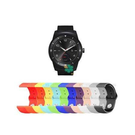 خرید بند سیلیکونی ساعت ال جی LG G Watch R W110 مدل دکمه ای