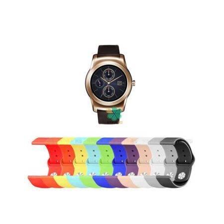 خرید بند سیلیکونی ساعت ال جی LG Watch Urban Luxe مدل دکمه ای