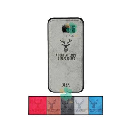 خرید قاب گوشی سامسونگ Samsung Galaxy S7 Edge پارچه ای طرح گوزن