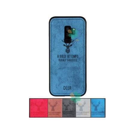 خرید قاب گوشی سامسونگ Galaxy S9 Plus پارچه ای طرح گوزن
