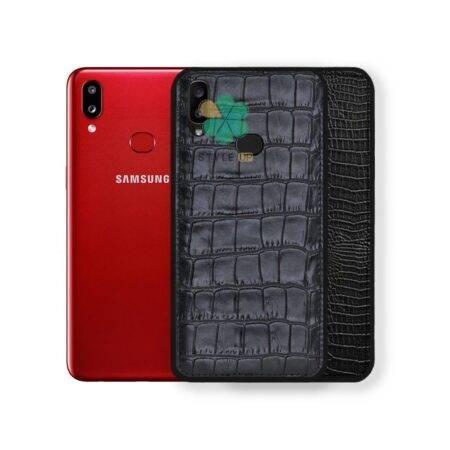 خرید قاب چرمی گوشی سامسونگ Samsung Galaxy A10s طرح Crocodile Skin