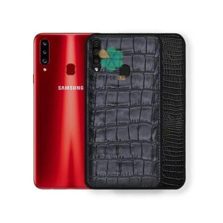 خرید قاب چرمی گوشی سامسونگ Samsung Galaxy A20s طرح Crocodile Skin