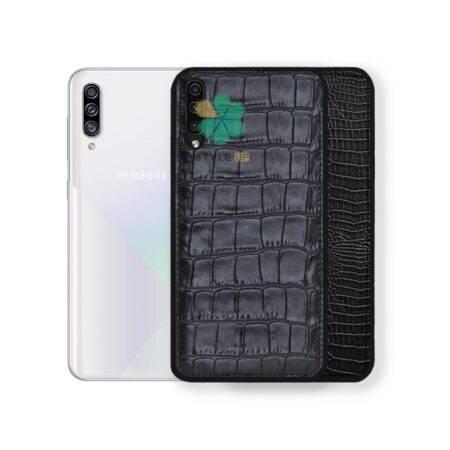 خرید قاب چرمی گوشی سامسونگ Samsung Galaxy A70 طرح Crocodile Skin