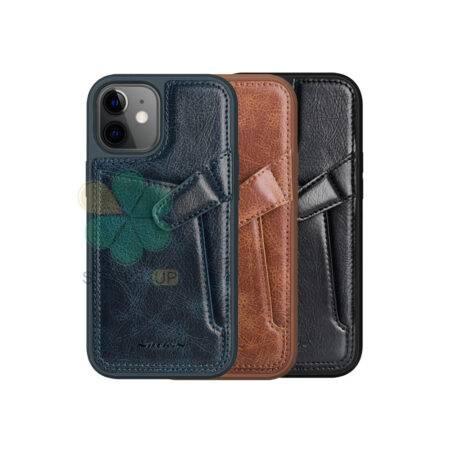 خرید قاب چرم نیلکین گوشی اپل ایفون Apple iPhone 12 مدل Aoge