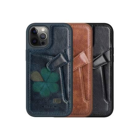 خرید قاب چرم نیلکین گوشی اپل ایفون Apple iPhone 12 Pro مدل Aoge
