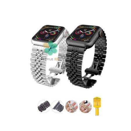 خرید بند فلزی ساعت اپل واچ Apple Watch 42/44mm مدل 5Rows