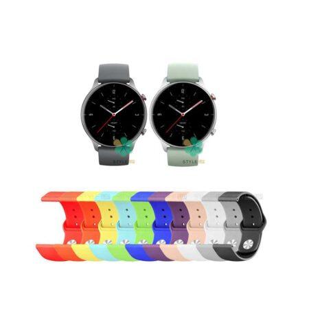 خرید بند سیلیکونی ساعت آمازفیت Amazfit GTR 2e مدل دکمه ای