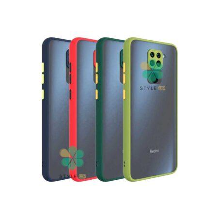 خرید قاب گوشی شیائومی Redmi Note 9 مدل پشت مات محافظ لنزدار