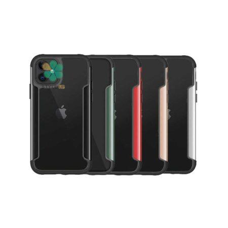 خرید قاب HUANMIN گوشی ایفون Apple iPhone 12 مدل شفاف دور فلزی