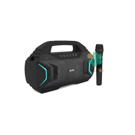 خرید اسپیکر بلوتوث پرتابل جانتر Jonter M100 Karaoke همراه با میکروفون