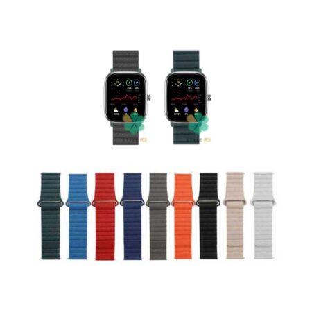 خرید بند چرمی ساعت آمازفیت Amazfit GTS 2 Mini مدل Leather Loop