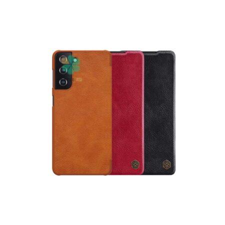 خرید کیف چرمی نیلکین گوشی سامسونگ Samsung Galaxy S21 مدل Qin