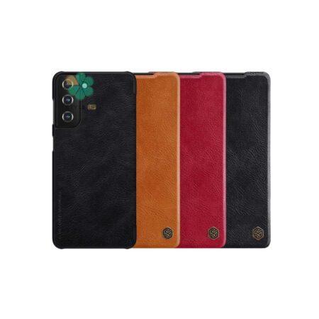 خرید کیف چرمی نیلکین گوشی سامسونگ Samsung Galaxy S21 Plus مدل Qin