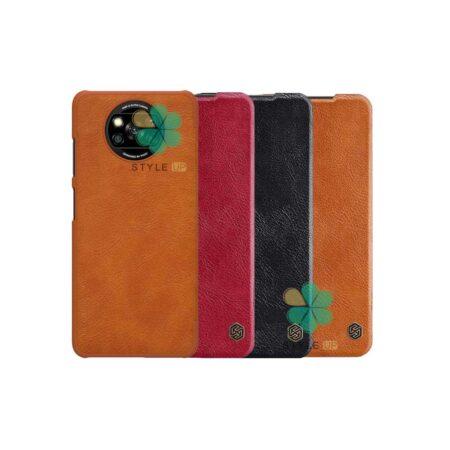 خرید کیف چرمی نیلکین گوشی شیائومی Xiaomi Poco X3 مدل Qin
