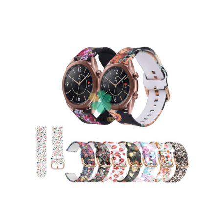 خرید بند ساعت سامسونگ Galaxy Watch 3 41 mm سیلیکونی طرح دار