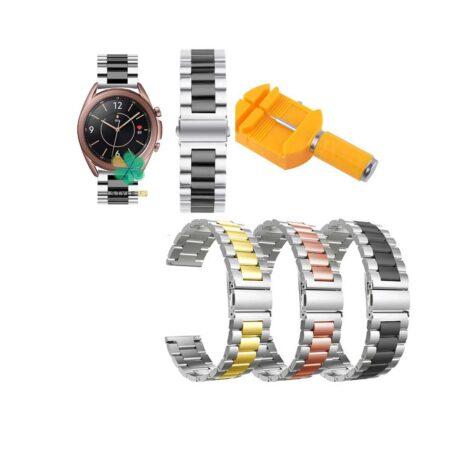خرید بند ساعت هوشمند سامسونگ Galaxy Watch 3 41mm استیل دو رنگ