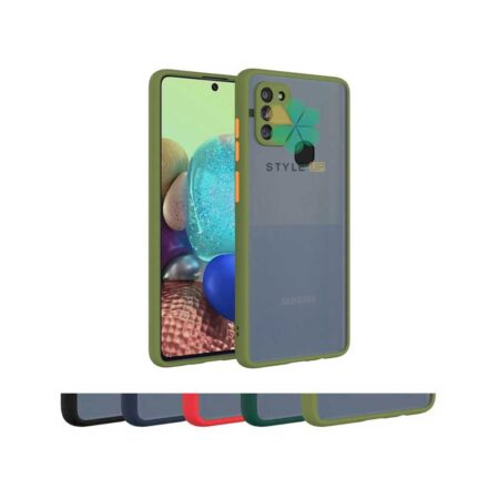 خرید قاب گوشی سامسونگ Galaxy M21 مدل پشت مات محافظ لنزدار