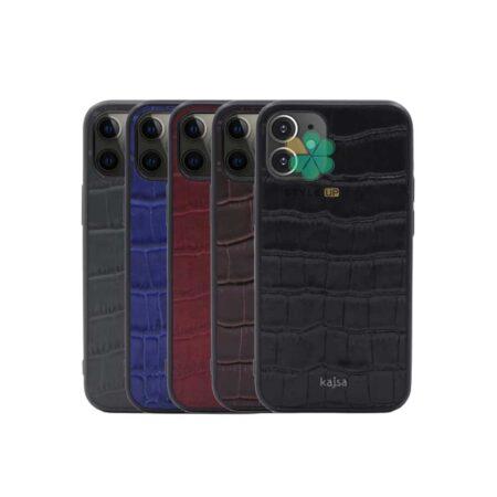 خرید قاب چرم برند Kajsa گوشی ایفون iPhone 12 طرح Genuine Croco