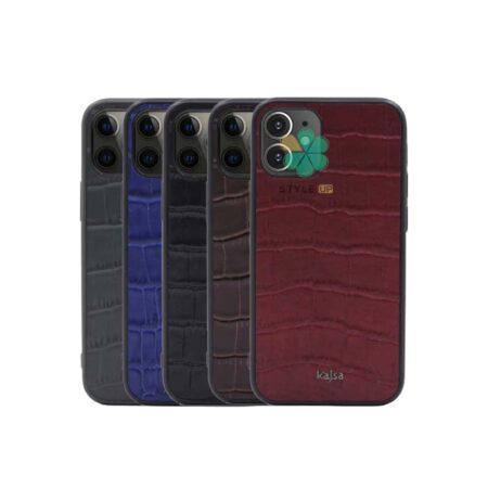 خرید قاب چرم برند Kajsa گوشی ایفون iPhone 12 Mini طرح Genuine Croco
