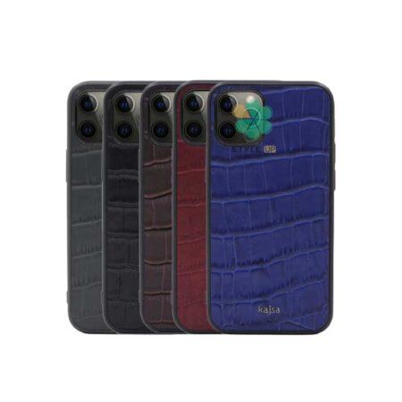 خرید قاب چرم برند Kajsa گوشی ایفون iPhone 12 Pro طرح Genuine Croco