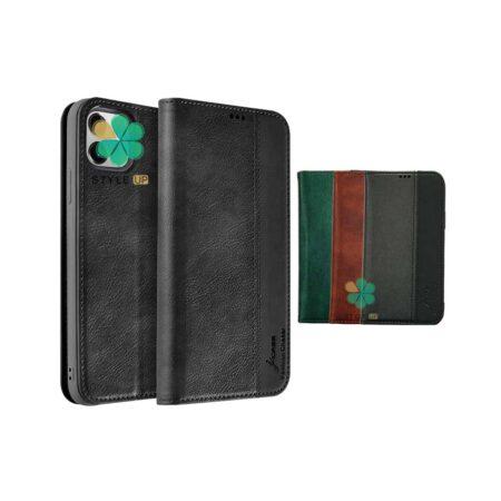 خرید کیف چرمی گوشی اپل ایفون Apple iPhone 12 برند J-Case