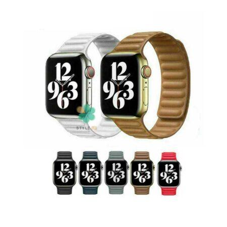 خرید بند ساعت هوشمند اپل واچ Apple Watch 42/44mm مدل Leather Link