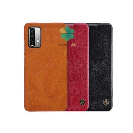 خرید کیف چرمی نیلکین گوشی شیائومی Xiaomi Redmi Note 9 4G مدل Qin