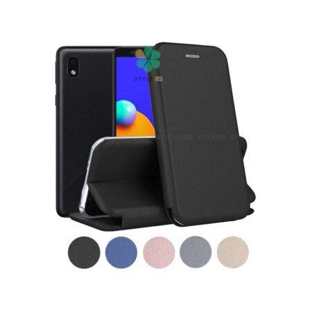 خرید کیف کلاسوری چرمی گوشی سامسونگ Samsung Galaxy A01 Core
