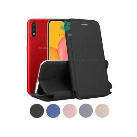خرید کیف کلاسوری چرمی گوشی سامسونگ Samsung Galaxy M01
