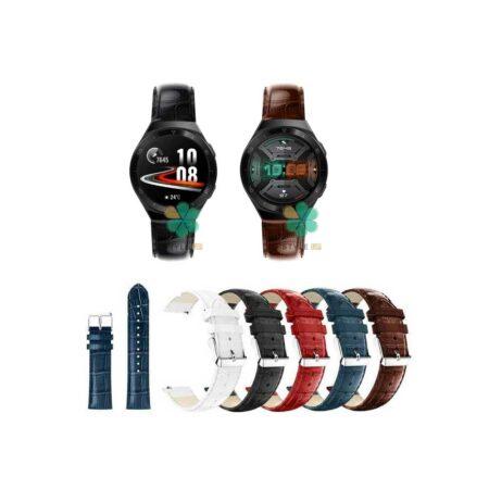 خرید بند چرمی ساعت هواوی واچ Huawei Watch GT 2e طرح Alligator
