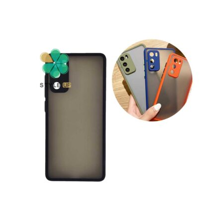 خرید قاب گوشی شیائومی Xiaomi Poco M3 مدل پشت مات محافظ لنزدار