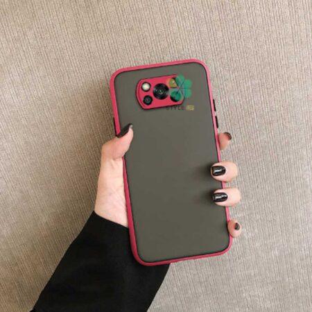 خرید قاب گوشی شیائومی Xiaomi Poco X3 مدل پشت مات محافظ لنزدار