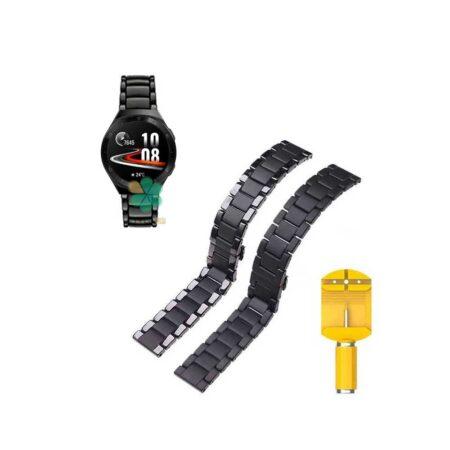 خرید بند فلزی ساعت هواوی واچ Huawei Watch GT 2e مدل 3Bead Carbon