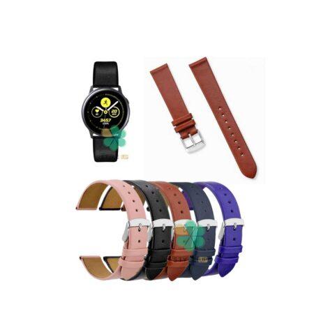 خرید بند ساعت سامسونگ Galaxy Watch Active مدل Fancy Leather