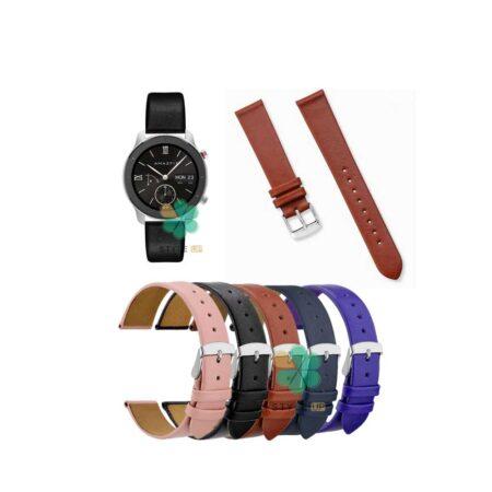 خرید بند ساعت شیائومی Xiaomi Amazfit GTR 42mm مدل Fancy Leather