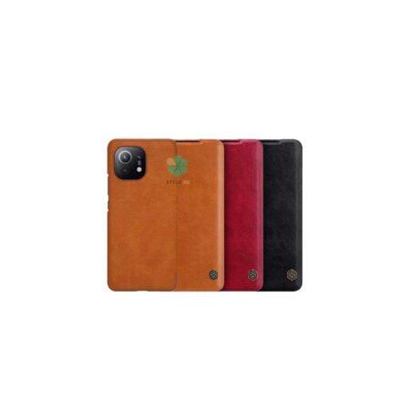 خرید کیف چرمی نیلکین گوشی شیائومی Xiaomi Mi 11 مدل Qin