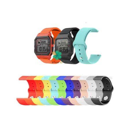 خرید بند سیلیکونی ساعت شیائومی Xiaomi Amazfit Neo مدل دکمه ای