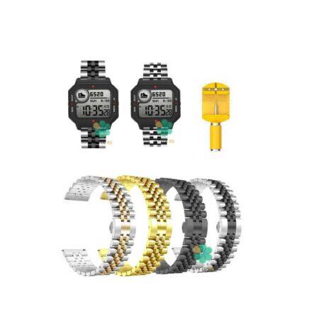 خرید بند فلزی ساعت شیائومی Xiaomi Amazfit Neo مدل 5Rows